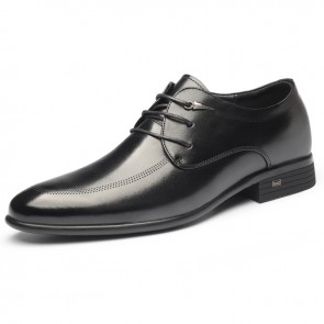 Lightweight Elevator Tuxedo Shoes for Men Increase Taller 2.6inch / 6.5cm Korean Business Formal Shoes