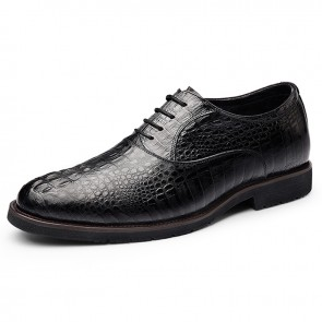 4e9f1171bc1 2019 Luxury Elevator Wedding Shoes Crocodile Cowhide Oxfords Increasing  Taller 2.6inch   6.5cm