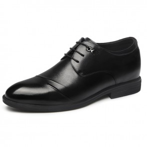 2019 British Lace Up Elevator Derbies Gain Taller 2.6inch / 6.5cm Comfortable Men Wedding Shoes