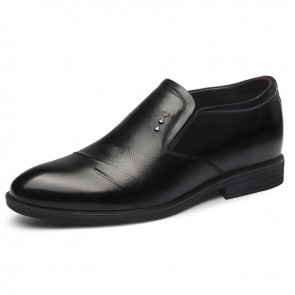 2019 British Slip On Elevator Dress Loafers for Men Height 2.6inch / 6.5cm Comfortable Men Wedding Shoes