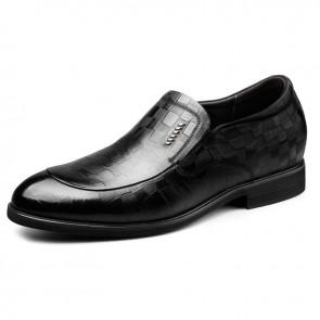 2019 Slip On Height Increase Embossed Tuxedo Shoes for Men Taller 2.6inch / 6.5cm Korean Formal Loafers