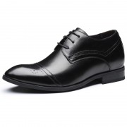 Best Elevator Shoes British Brogue Height Increasing Shoes Get Taller 2.8inch / 7cm Black
