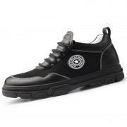 2020 New Elevator Running Shoes Black Mesh Height Increasing Trainers Add Taller 2.6inch / 6cm