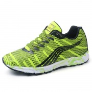 Super lightweight fluorescent sneakers add taller 6.5cm / 2.56inch camouflage outsole elevator sports shoe