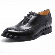 Add height 6cm / 2.4inch men elevator sharp calf leather oxfords