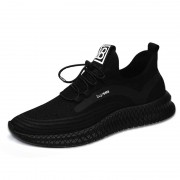 Relaxed Hidden Heel Sneakers Mesh Knit Men Taller Running Shoes Increase Height 3.2inch / 8cm