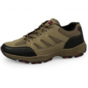 Lightweight Elevator Men Hiking Shoes Taller 6.5cm / 2.6inch Khaki Hidden Lift Outdoor Shoes