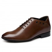 Groom elevator wedding shoe make you taller 7cm / 2.75inches men height increasing dress shoes