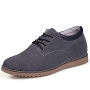 Gray Suede Leather lift Casual shoes for men extra height 6cm / 2.36inches immediately