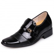 Men's dress elevator shoes for wedding increase height 7cm / 2.75inches for groom