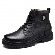 Hidden Taller Motorcycle Boots Height 6cm / 2.4inch Elevator Military Combat Boot Shoes