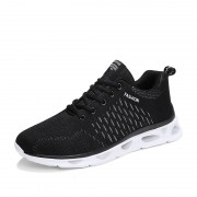 Black-White Elevator Athletic Shoes Performance Flyknit Running Shoes Add Altitude 2inch / 5cm