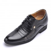 2014 leather height elevator shoe for men gentleman dress tall shoes increase 7cm / 2.75inches