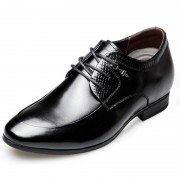 Glossy Men Elevator Wedding Shoes 2.6inch / 6.5cm Taller Lace Up Formal shoes
