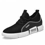 2021 Elevator Flyknit Fashion Sneaker Black Relaxed Lift Running Shoes Add Taller 3.2inch / 8cm