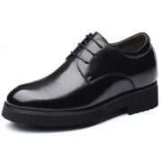 Lightweight Taller Formal Oxfords Soft Leather Plain Toe Elevator Shoes Increase Height 3.2inch / 8cm