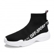 Black Height Increasing Socks Shoes Lightweight Slip On Walking Shoes Tall 3.2inch / 8cm