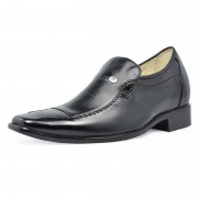 Genuine leather height increasing elevator shoes 7cm/2.75inchs taller shoes