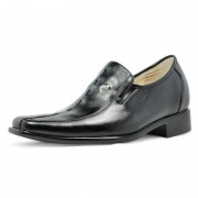 men's leather elevated shoes 7cm/2.75inchs height increasing dress shoes