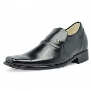 Smooth Calf leather height increase shoes 7cm/2.75inchs taller shoes