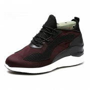 British Height Increasing Trainer Shoes Get Altitude 4inch / 10cm Red Elevator Walking Shoes
