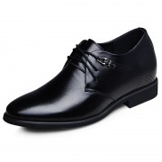 Business men's leather elevator dress shoes make you taller 6.5 cm / 2.56inches height party shoes