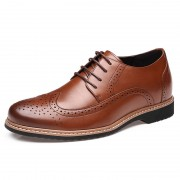 Brogues Carving Height Elevator Shoe for Men Add Taller 6cm / 2.36inches Baroque Retro shoes