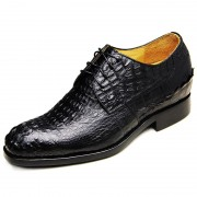 Customized full genuine alligator elevator shoes 6.5cm / 2.56inches taller wedding shoe
