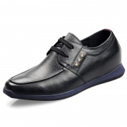 Elevator casual lace-up shoes get taller 6cm / 2.36inch soft leather business shoes