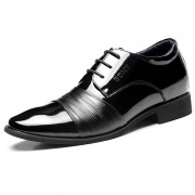 Elegant elevator wedding shoes 6.5cm / 2.56inch cap toe formal dress shoes