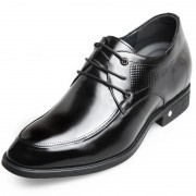 Exquisitely elevator derbies soft cow leather taller formal shoes 2.6inch / 6.5cm