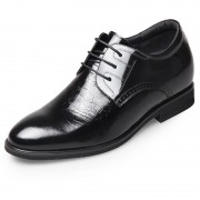 Elevator groom wedding shoes add tall 2.6inch / 6.5cm shiny upper business formal shoes