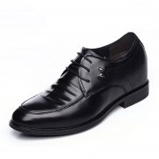 Extra taller business shoes get height 8cm / 3.15inch black lace up formal shoes