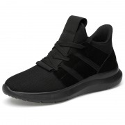 Youth Height Increasing Trail Shoes Black Hidden Lifts Sneakers Taller 2.8inch / 7cm