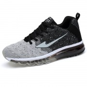 Dark Gray Flyknit Height Increasing Trail Runners Elevator Fashion Sneakers Taller 3.2inc / 8cm