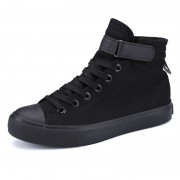 High Top Taller Plimsolls Shoes 3.5inch / 9cm Velcro Height Increasing Casual Sneakers