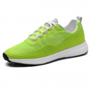 Fashionable Elevator Casual Sneakers Taller 2.6inch / 6.5cm Green Heel Lifts Walking Shoes