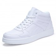 Easy Match High Top Sneakers Increase taller 3.5inch / 9cm Elevator Casual Skate Shoes