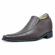 Brown men elevator dress shoes get taller 8cm / 3.15inches