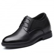 Modern Hidden Heel Tuxedo Shoes Genuine Leather Elevated Formal Shoes Taller 3.2inch / 8cm