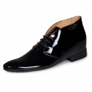 Handmade men's dress shoes with genuine leather be taller 6cm / 2.36inches height increasing