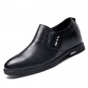 Elegant men slip on elevator dress shoes 8cm / 3.15inch hidden stripe upper formal shoes