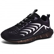 Black Luminous Hidden Lift Sneakers Breathable Tide Low-cut Bowling Shoes Add Height 2.4inch / 6cm