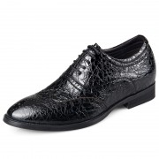 Exalted lace up taller formal shoes 6.5cm / 2.56inch black height increasing oxford shoes