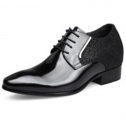 Vogue sharp toe height elevator groom wedding shoes 2.6inch / 6.5cm