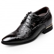 Modern Pointed Toe Elevator Formal Shoes 2.6inch / 6.5cm Cowhide Leather Taller Wedding Shoes