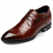 Awesome Bridegroom Taller Shoes Height 2.6inch / 6.5cm Brown Elevator Dress Shoes