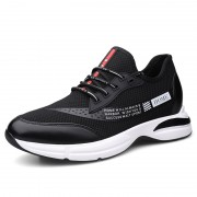 Concise Height Increasing Sneakers Slip On Mesh Running Shoes That Give You Taller 3inch / 7.5cm