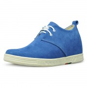 Blue fashion tall men shoes 7cm/2.75inch taller height increasing shoes
