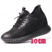 4 inch Elevator Sneakers Genuine Leather Height Increasing Walking Shoes Get Taller 10 cm